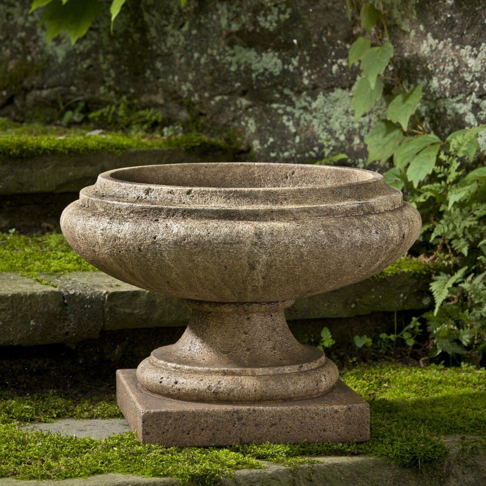 Nick Round Cast Stone Urn Planter in 10  Urn planters, Garden