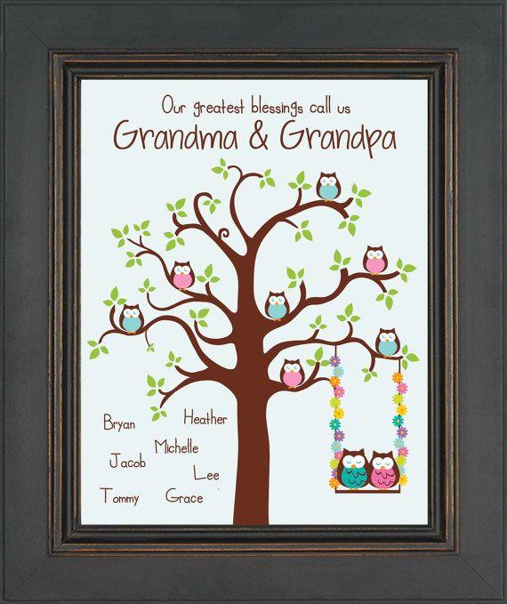 Grandparents Personalized Gift Grandma By Kreationsbymarilyn