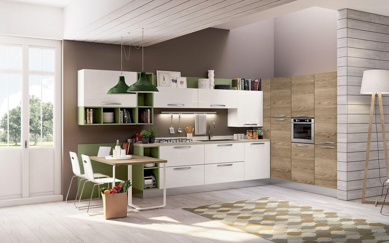Cucina angolare moderna - Composizione 0467 | CUCINE MODERNE | Pinterest