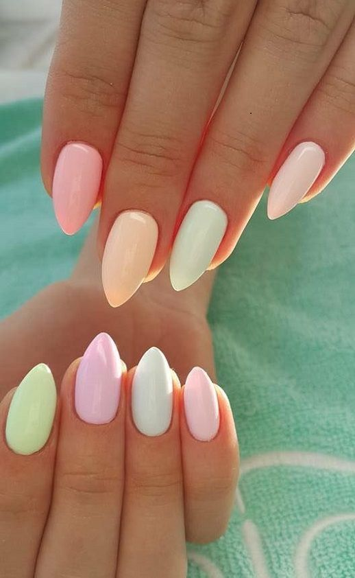 20 Best Pastel Nails Ideas 2018 | Pinterest | Nageldesign Nageldesign Glitzer Und Fingernu00e4gel ...