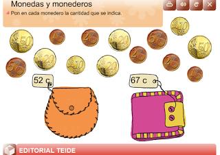 EN EL AULA DE APOYO: MONEDAS