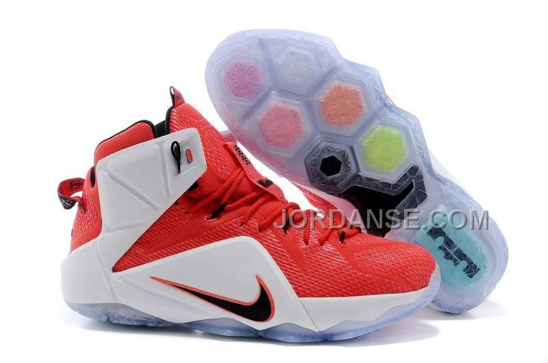 "f781adc9b8c Nike LeBron 12 ""Heart of a Lion"" Red White-Crimson-Black For Sale"