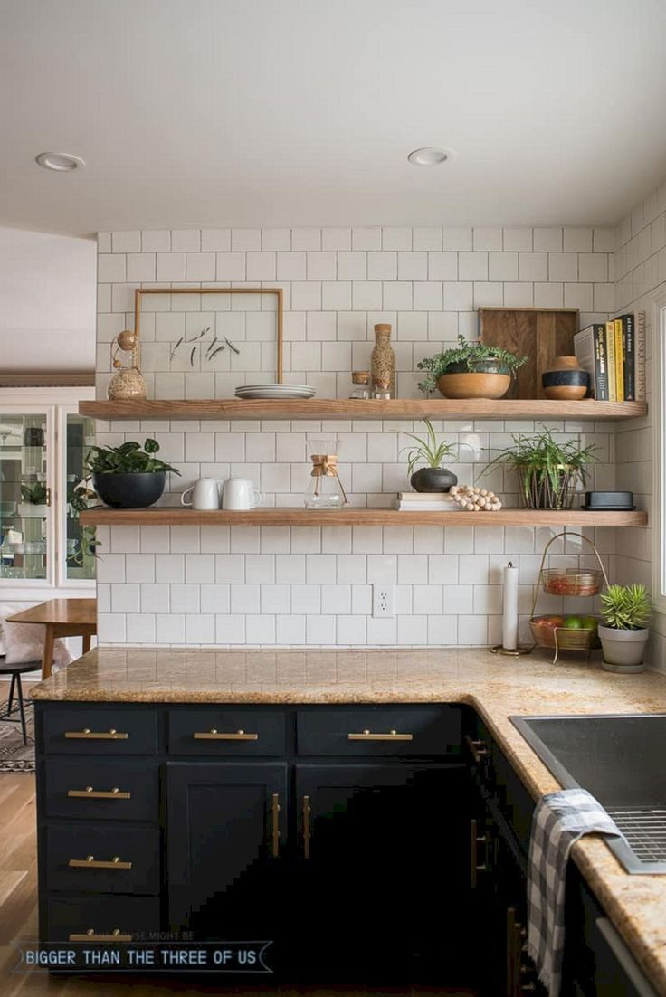 Wood wall shelves version 3 diy hacks for your kitchen with a simple ingredients solutioingenieria Images