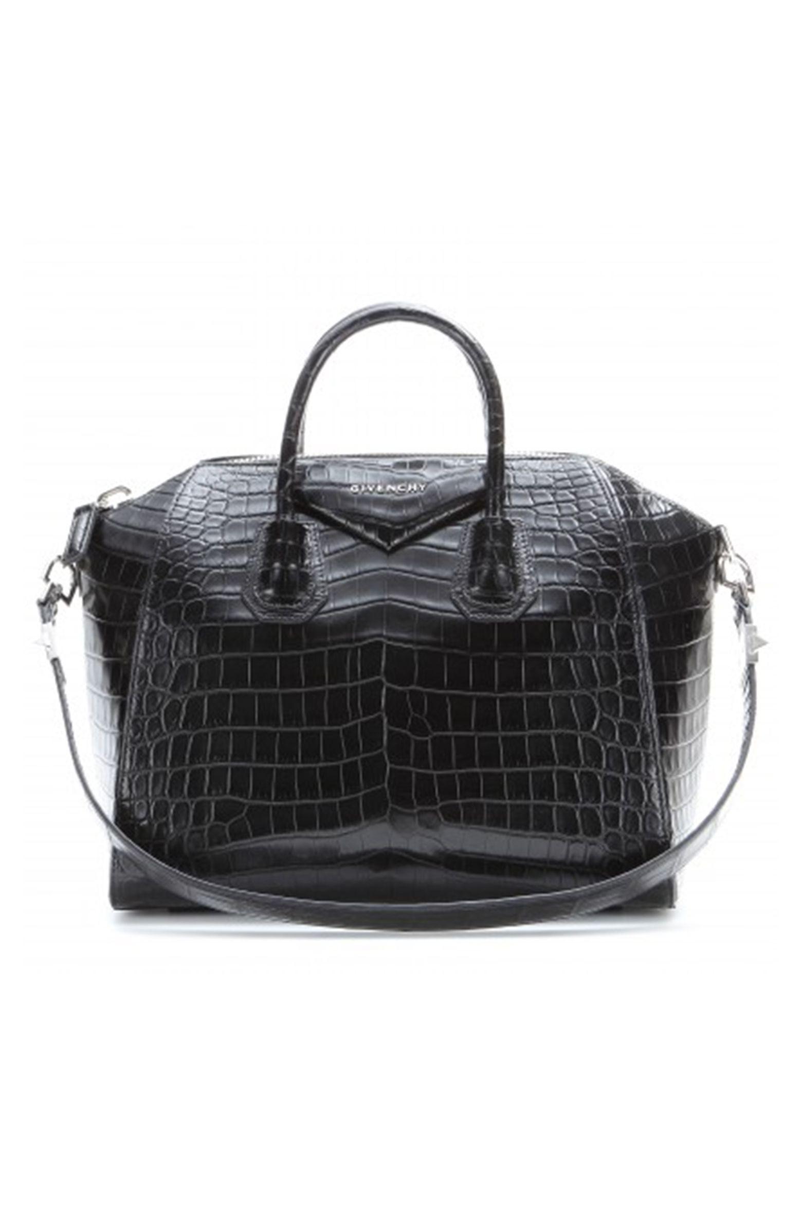 9c209d51ee6f Givenchy Antigona croco  . Givenchy Antigona croco   Black Leather Tote Bag  ...