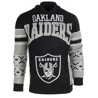 39f7e0c291 Oakland Raiders Ugly Christmas Sweater Pullover Hoodie
