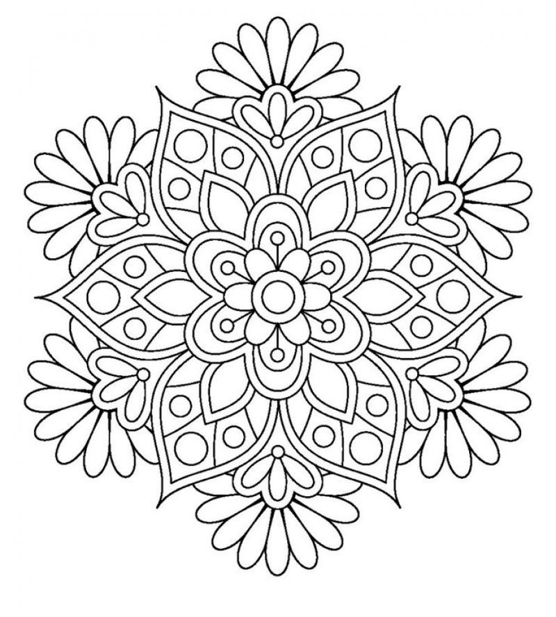 Flower Mandala Coloring Page To Print 1 Printable Coloring Pages Mandala Coloring Flower Coloring Pages Mandala Coloring Pages