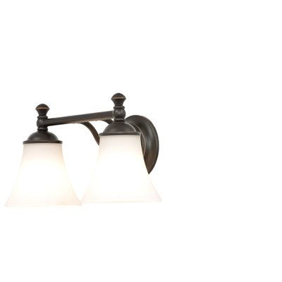 Hampton Bay Crawley 3-Light Oil-Rubbed Bronze Vanity Light w White Glass Shades