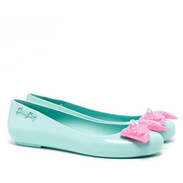af3afdab33754 Jeremy Scott for Melissa Space Love Peppermint Bow Flat Shoe ( 51) ❤ liked  on