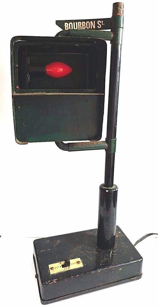 Vintage B B Stop Light Traffic Signal Pedestrian Bar Lamp 60 S Japan Bourbon St Stop Light Traffic Signal Bourbon