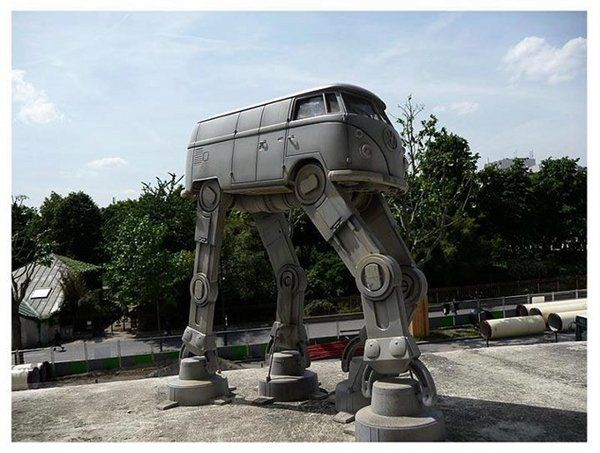 It is and AT-AT. It is a VW Micro Bus. It is awesome and I want one.