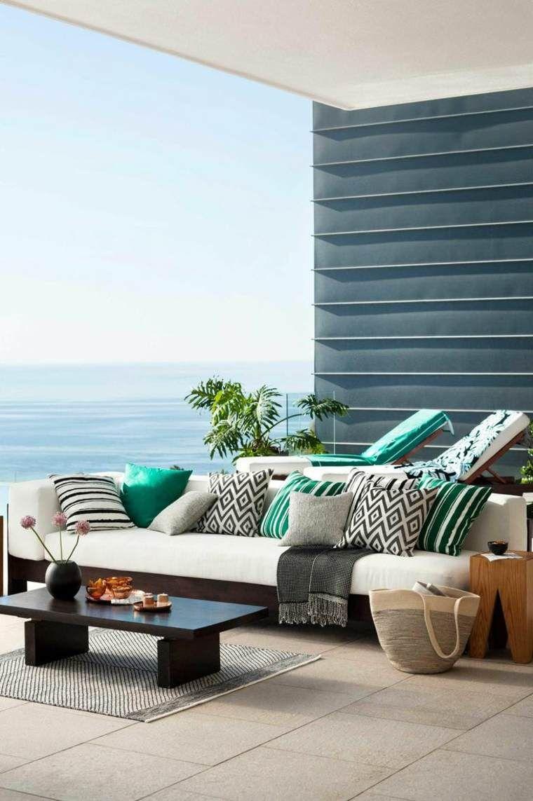 Balkonlayout frische Dekorideen für den Sommer Wohnen