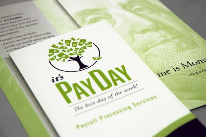 Collateral Materials for It's PayDay | A. Bright Idea - The marketing materials were designed to complement the new logo and define the brand