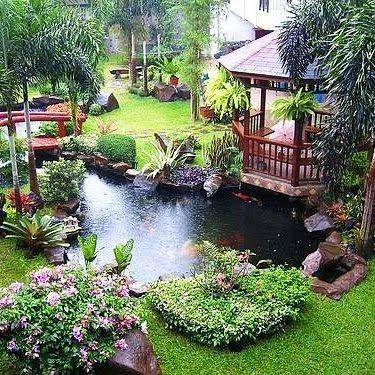 Backyard Paradise Trees Pinterest Jardinería, Jardines y Jardín - cascadas en jardines