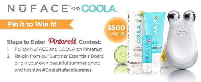 Your chance to win NuFACE and COOLA ends this week! Last