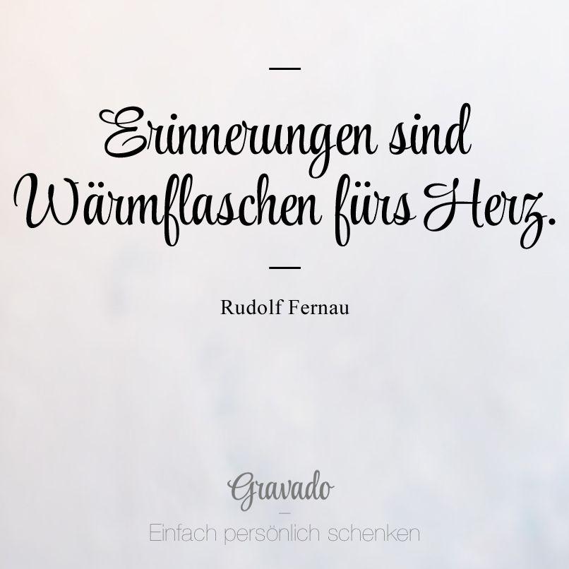 Erinnerungen Sind Wärmflaschen Fürs Herz Rudolf Fernau