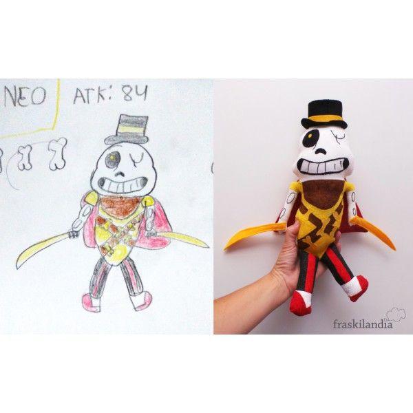 muñeco a partir de dibujo  Pirata calavera. Sergio, 10 años