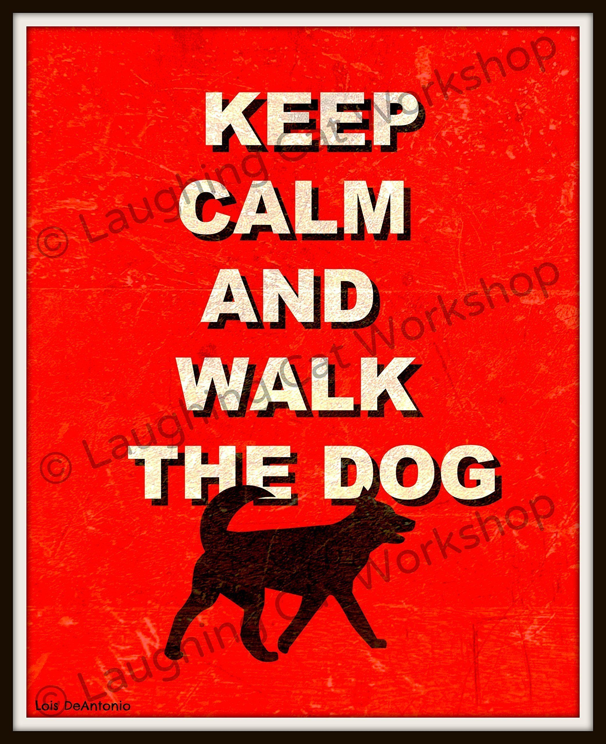 "Funny Dog Art Print, Funny Dog Quote, Keep Calm and Walk the Dog, Pet Typography print, Dog lovers gift, Dorm decor, Country Rustic Dog Decor. ""Keep Calm and Walk the Dog"" Country rustic dog print, professionally printed in a matte finish on Kodak Professional Endura Paper and mailed to you directly from the printer. USPS Track & Confirm tracking numbers are provided at no additional charge. Mat and frame are not included. * This item is not made of metal or wood. It is an art print. :)…"