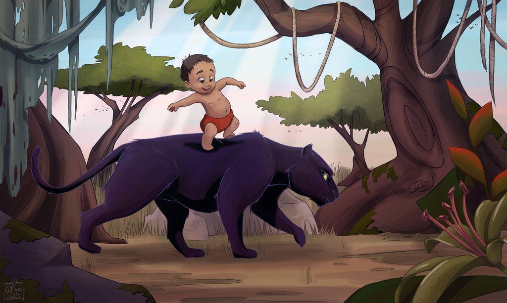Mowgli Bagheera Jungle Book 1967 By Poppysleaf Jungle Book Mowgli Disney Fan Art