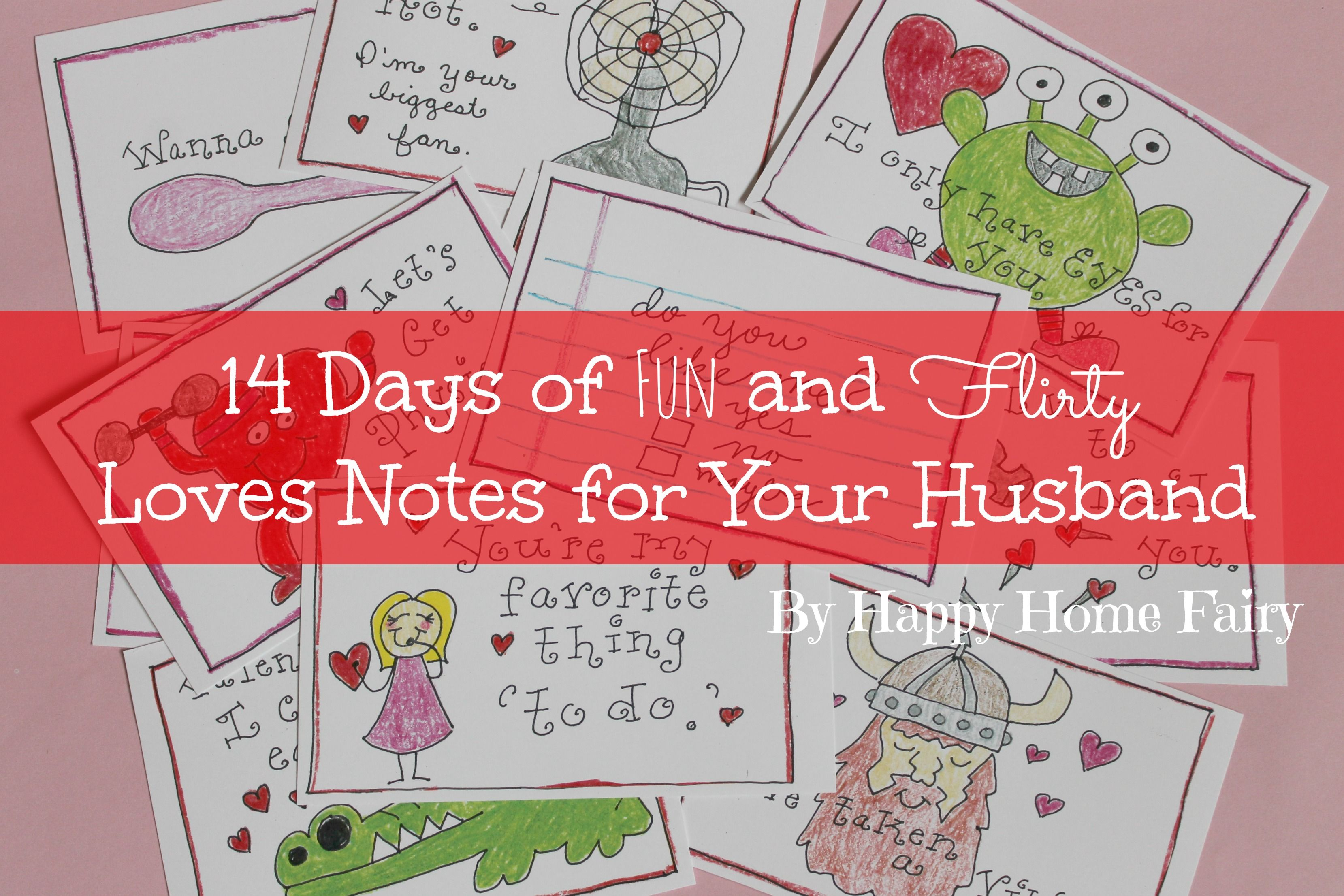 14 days of fun and flirty love notes for your husband free