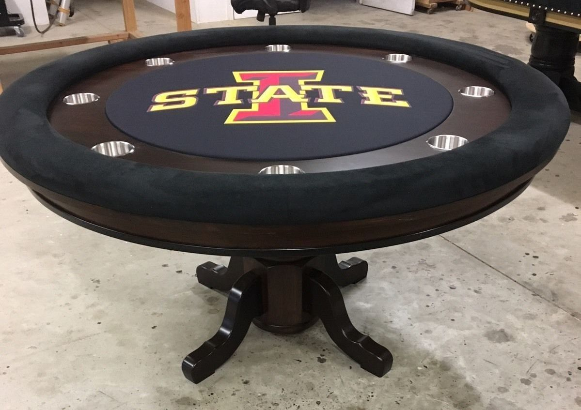 Iowa State Ncaa Round Poker Table Custom Poker Tables Poker Table Poker