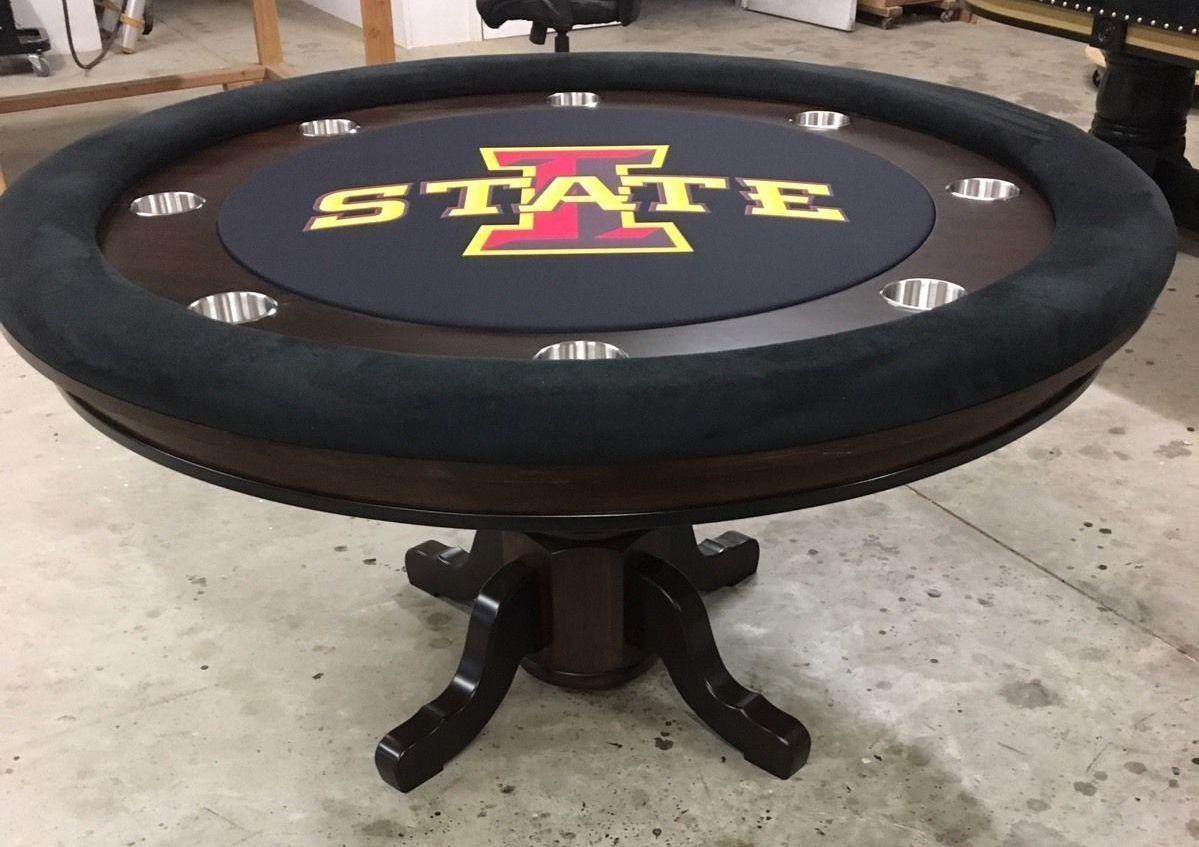 Iowa State Ncaa Round Poker Table Custom Poker Tables Poker Table Poker