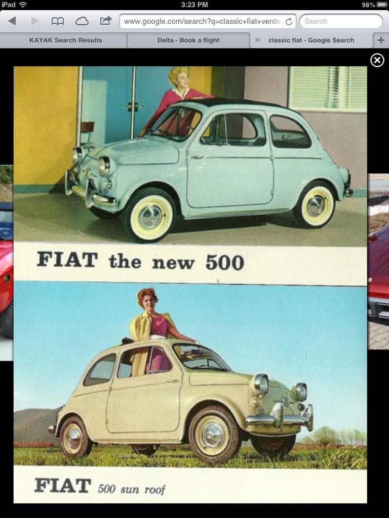 Retro Fiat Ad Fiat 500 Classic Verde Chiaro Fiat 600 Fiat