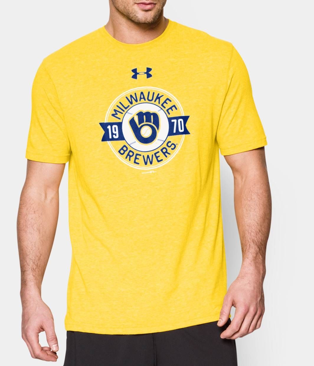 4377840f11f04 Men s Milwaukee Brewers Charged Cotton® Tri-Blend T-Shirt