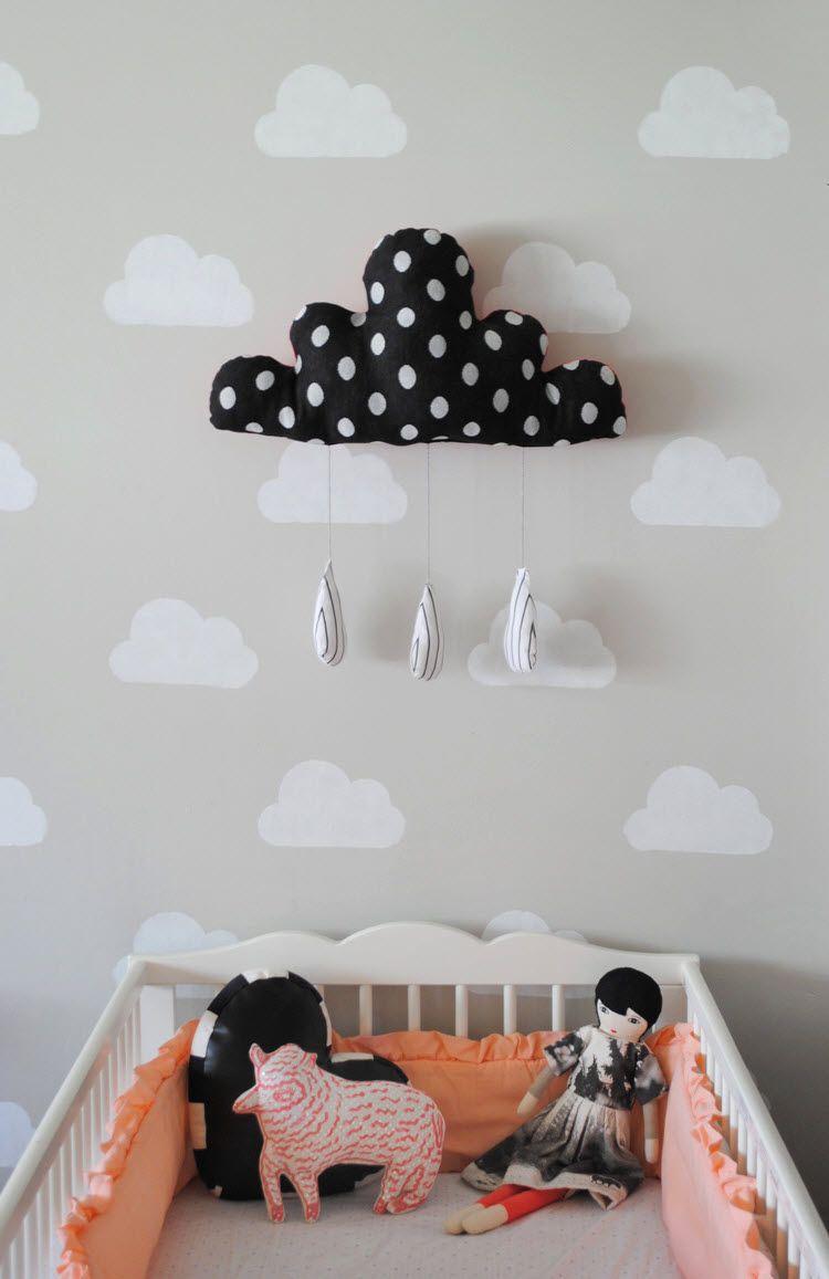 déco nuage chambre bébé   Idées Déco   Pinterest   Bedroom vintage ...