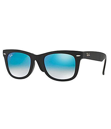 b3e6326efcad RayBan Mirrored Ombr Wayfarer Sunglasses  Dillards