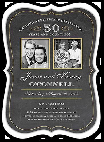 Countless Memories 5x7 Wedding Anniversary Invitations