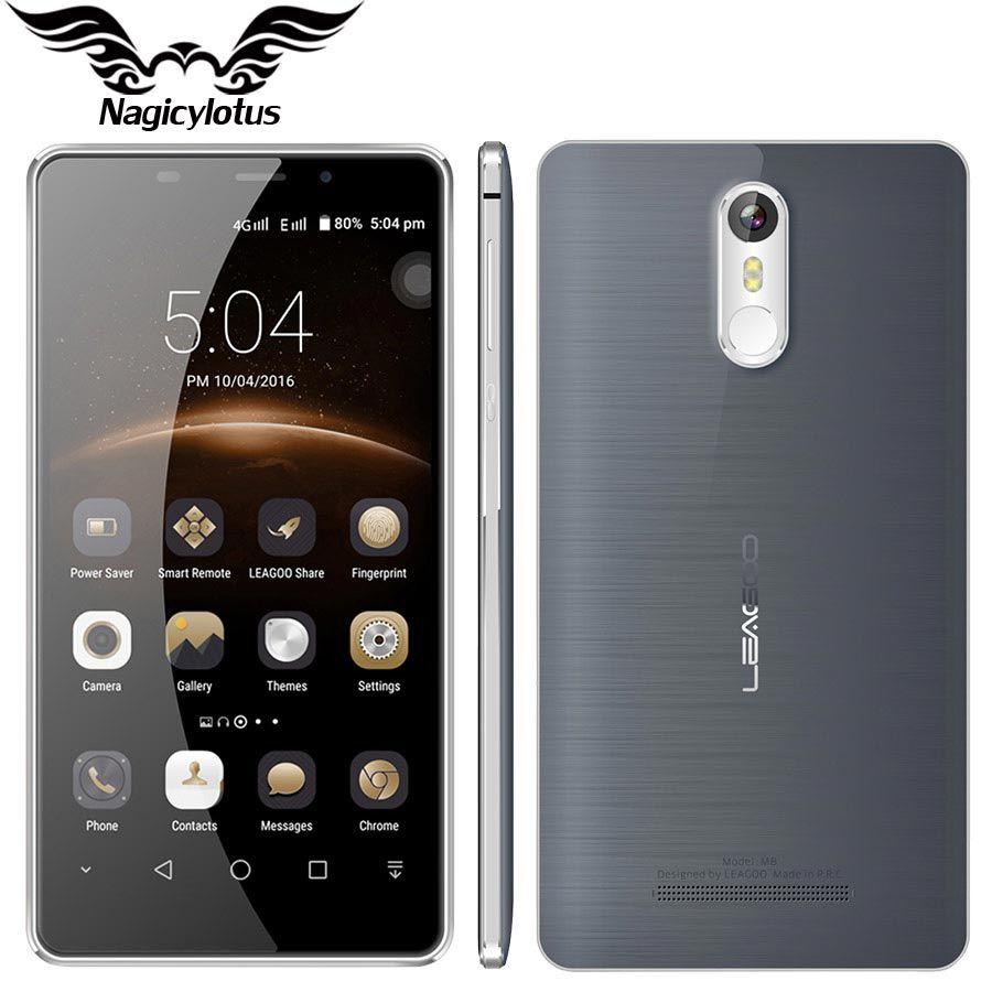 """Original leagoo teléfono móvil m8 5.7 """"hd mt6580a quad core 2 gb ram 16 gb rom 13.0mp 3500 mah android 6.0 de la huella digital 3g smartphone"""