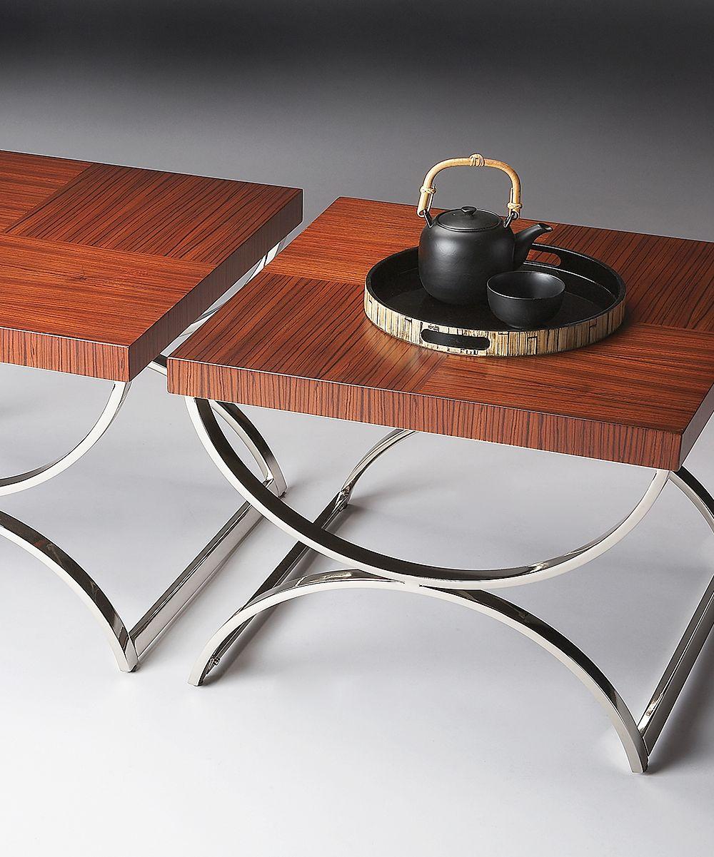 Zebra Wood Side Table