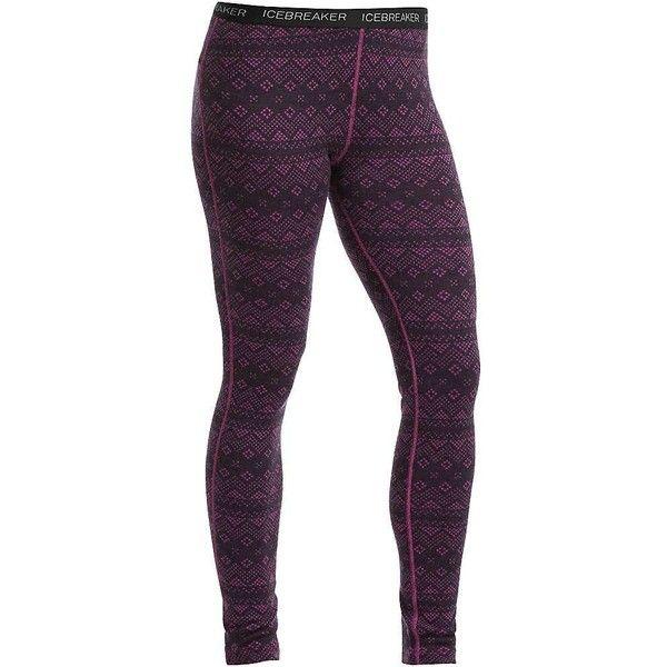 Icebreaker Women's Vertex Leggings Icon Fairisle ($120) ❤ liked ...