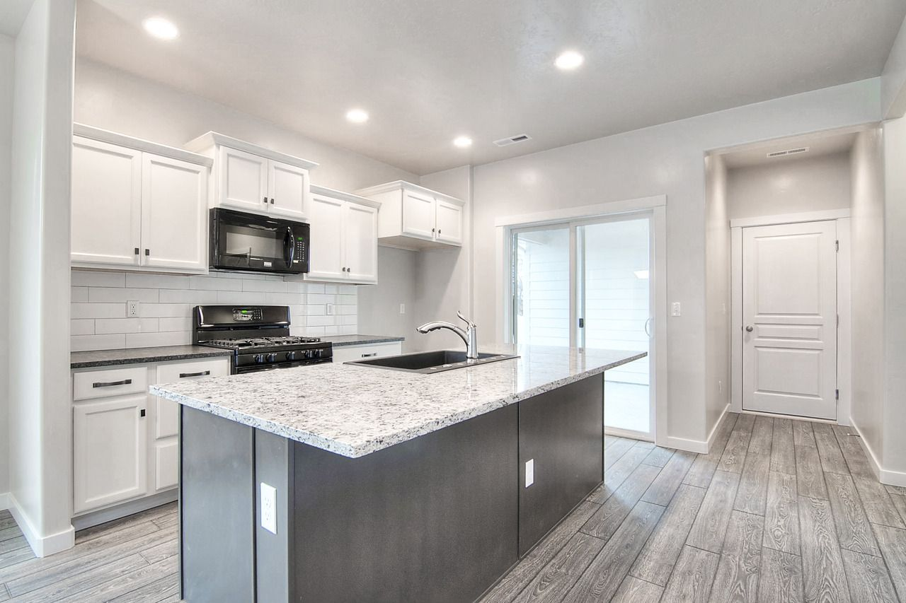 contrasting kitchen island with a clean distinction of grey vs white contrasting kitchen island on kitchen island ideas organization id=50693