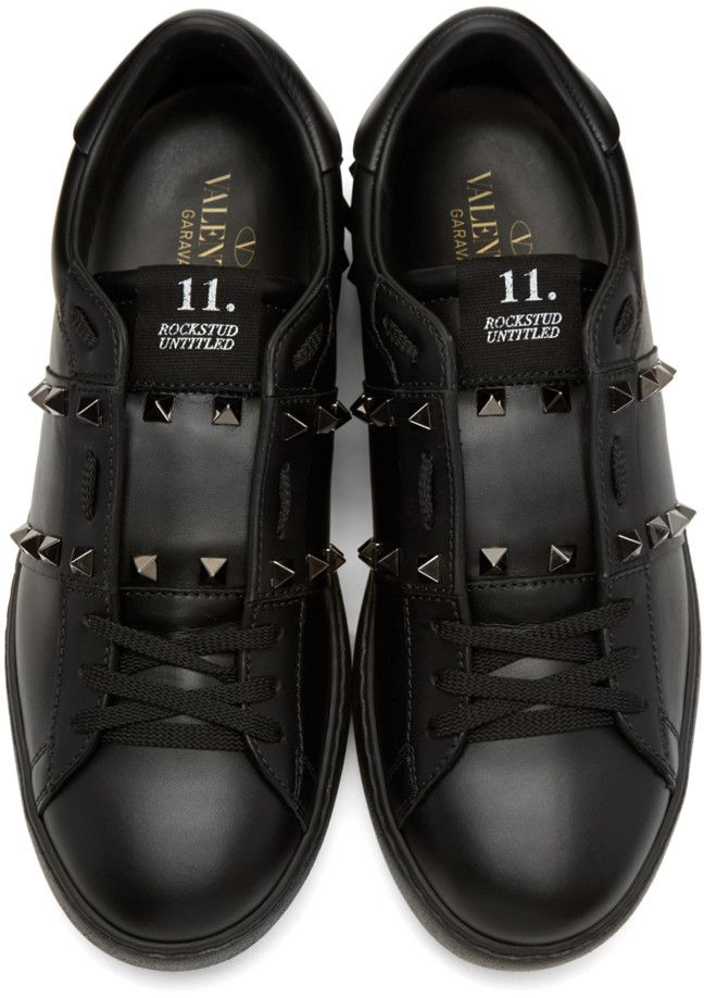 3878059abba3 Valentino - Black  Rockstud Untitled  Noir Sneakers