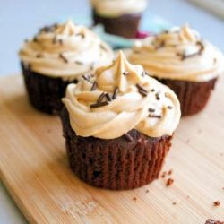 Here are 14 of my FAVORITE peanut butter recipes, including Fudge Brownie Cupcakes with Peanut Butter Frosting.
