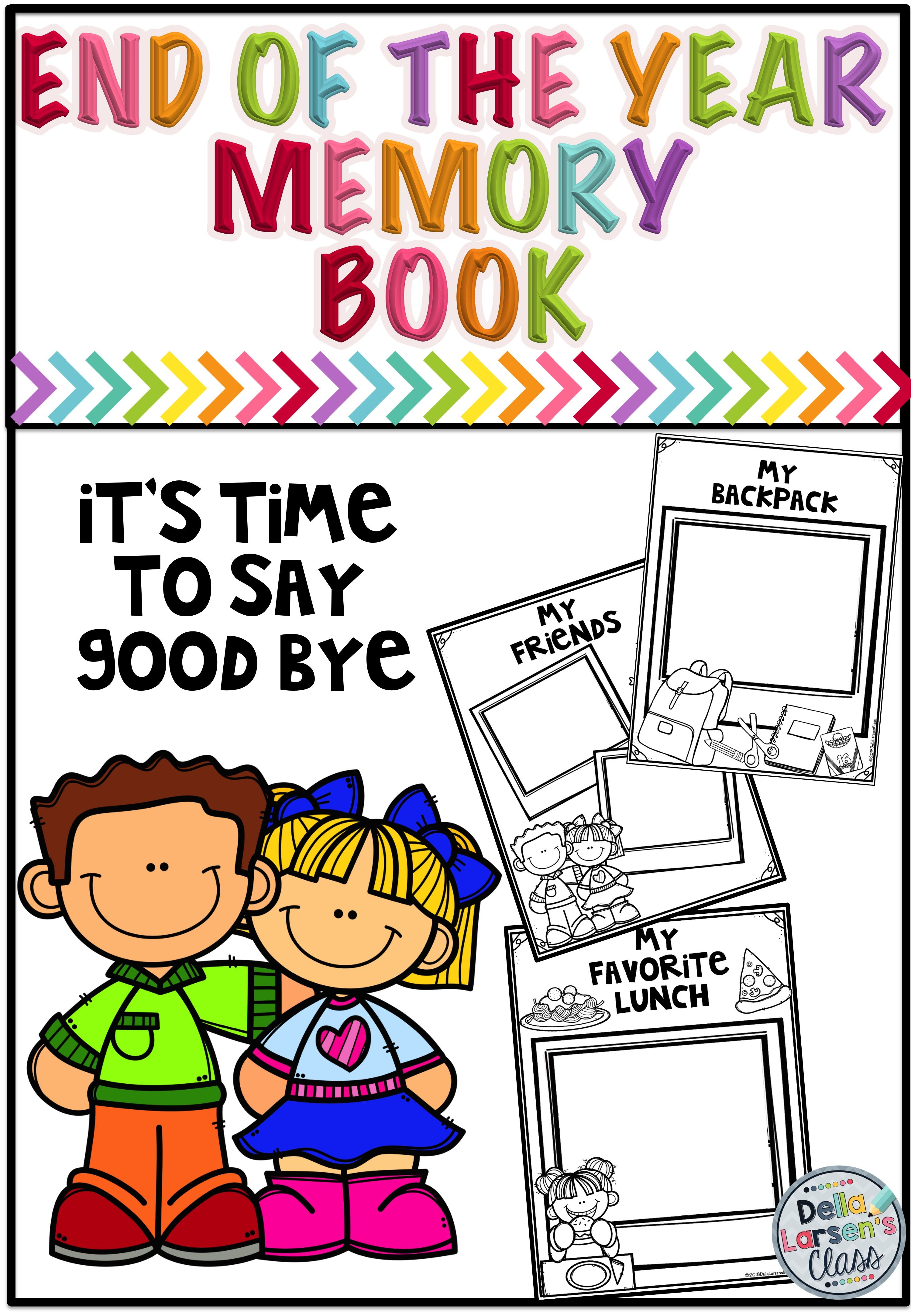 End Of The Year Memory Book For Kindergarten And First