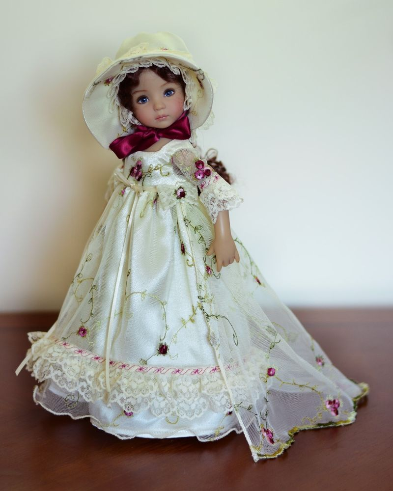 "SOLD ""Secret Garden"" Regency Dress, Outfit for 13"" Dianna Effner Little Darling #LuminariaDesigns"
