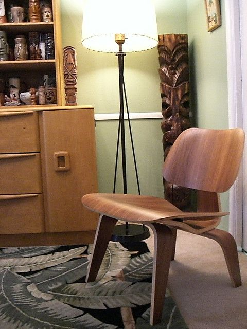 Chaise LCW, De Ray Et Charles Eames, Pour Vitra