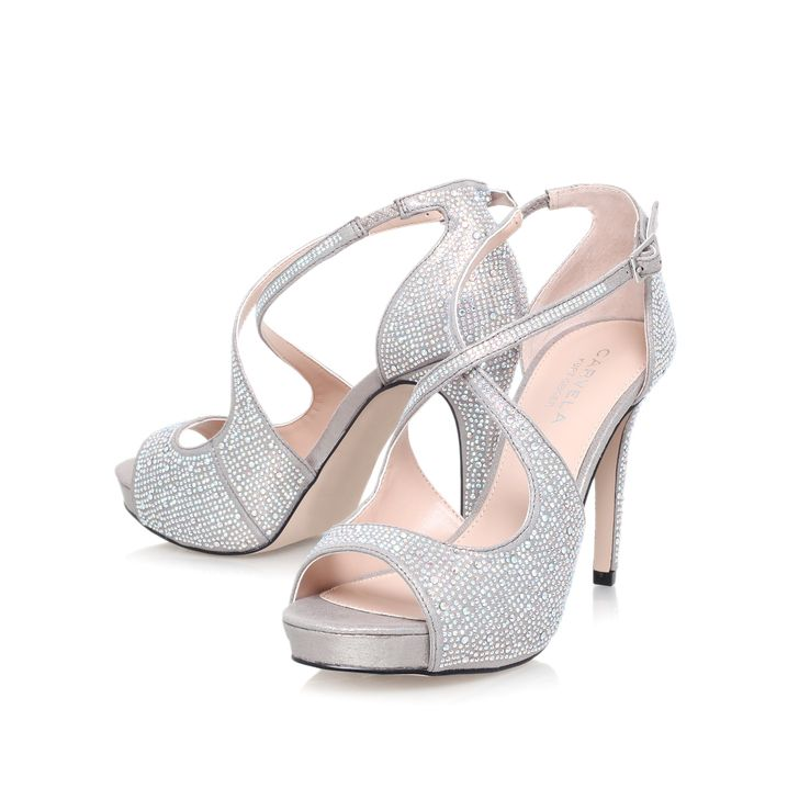 Carvela Gift High Heeled Embellished Court Shoes Silver From Our Women S Range At John Lewis