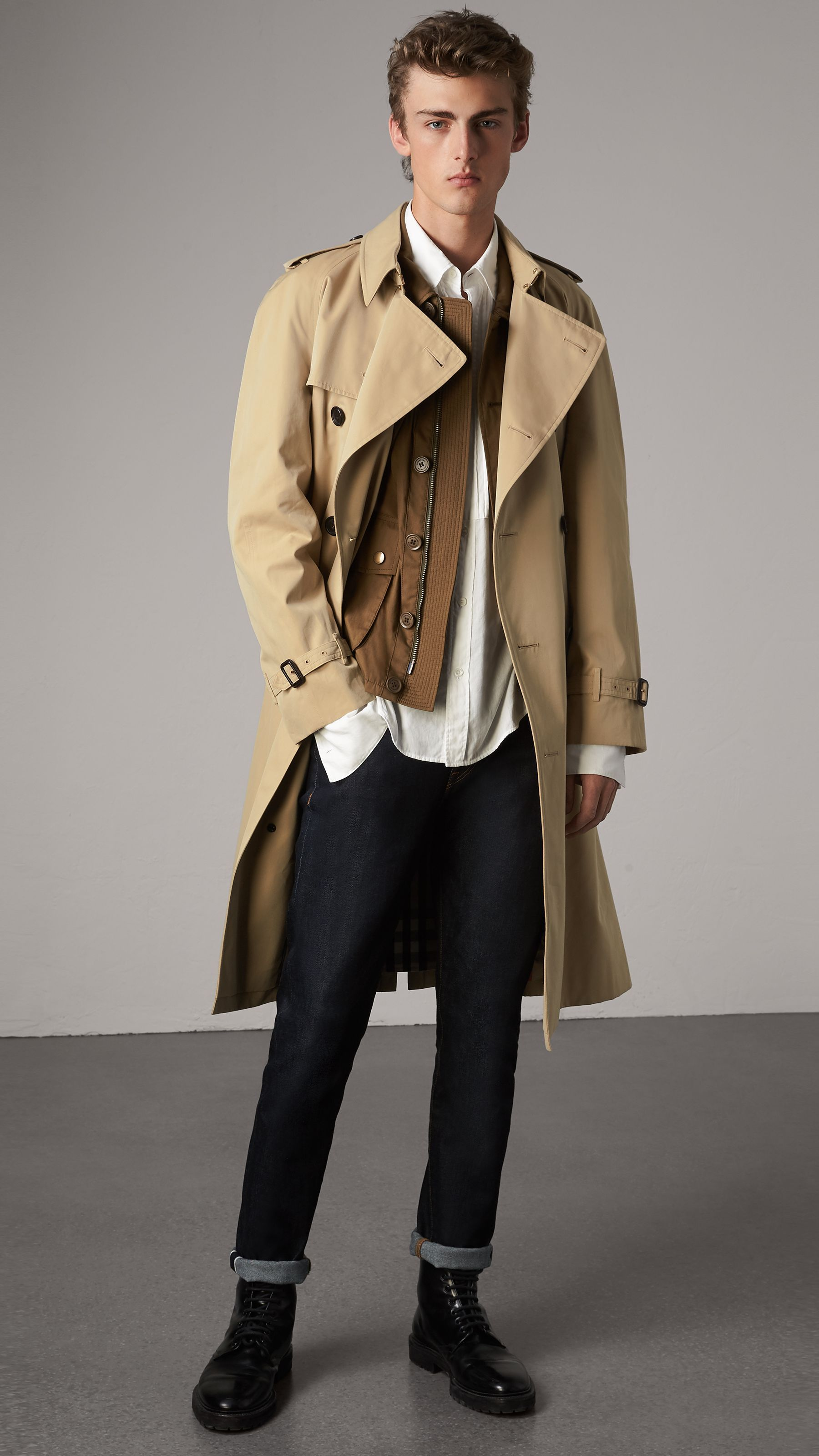 93f8574a1640 The Westminster – Trench extra-long (Miel) - Homme   Burberry ...