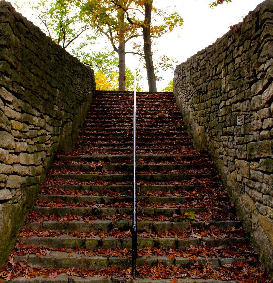 Red Granite Ohio : Red stone steps ottawa park toledo ohio the art of