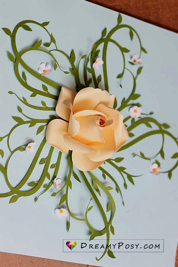 Easy tutorial to make a paper rose, FREE template #crepepaperroses Easy tutorial to make a paper rose, FREE template #crepepaperroses