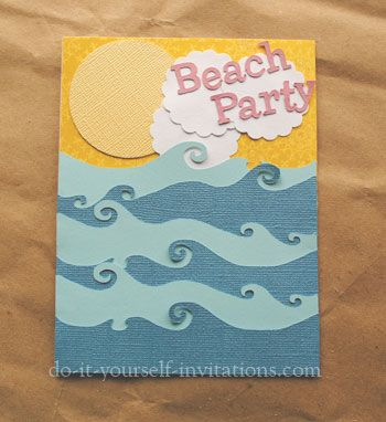 diy beach party invitations | kids birthday party ideas and, Party invitations