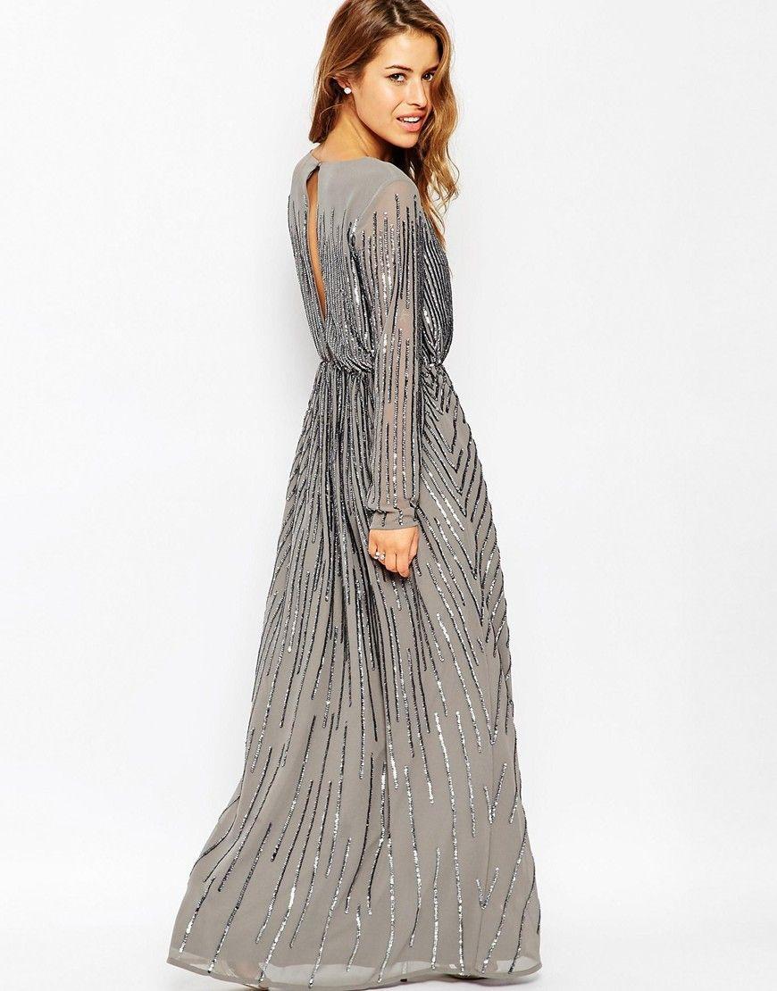 Vestidos largos moda manga larga