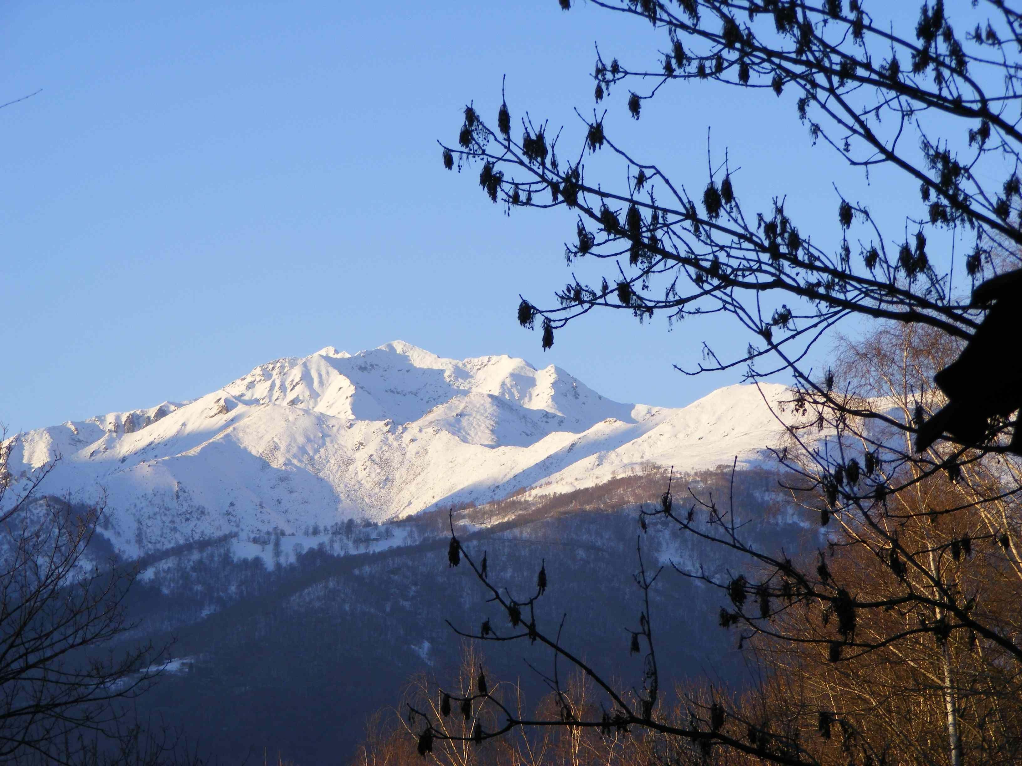Biella Il Monte Bo dalla Colma di Biella
