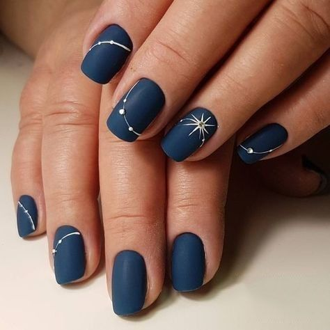 33 trendy blue nail styles in 2019 koees blog  solid