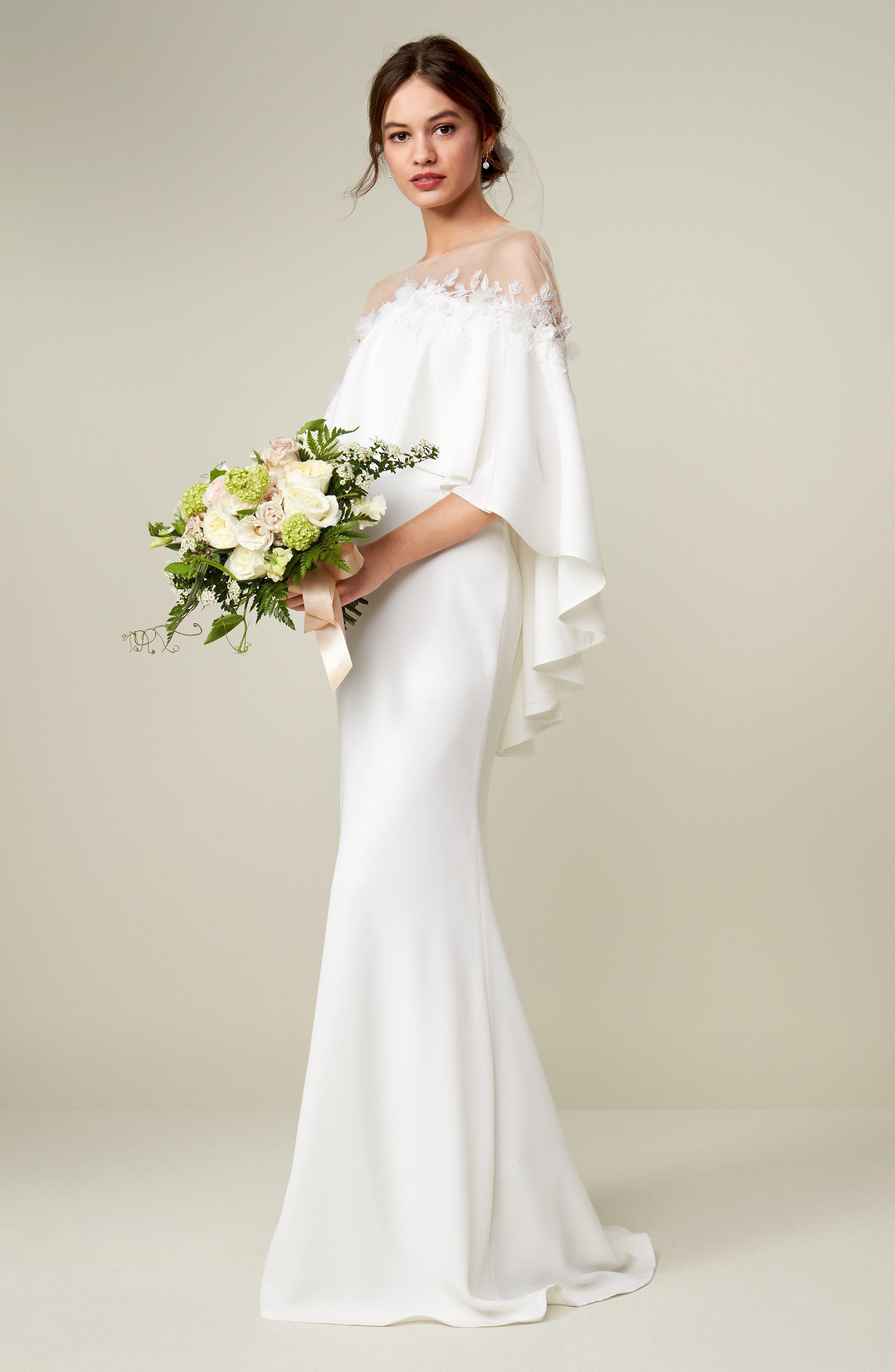 Off The Shoulder Popover Gown Online Wedding Dress Wedding Dresses Modest White Dress