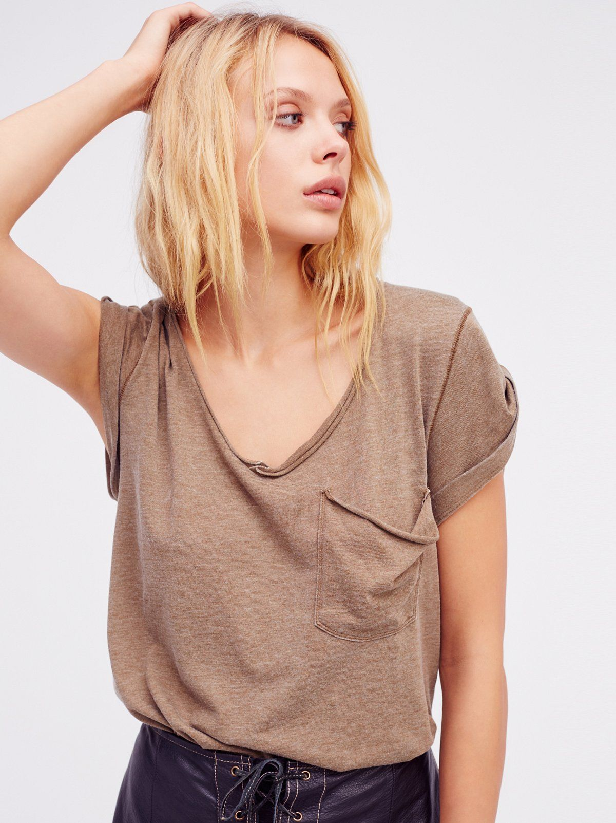 Lacey Denim Cutoff Shorts How to roll sleeves, Tees