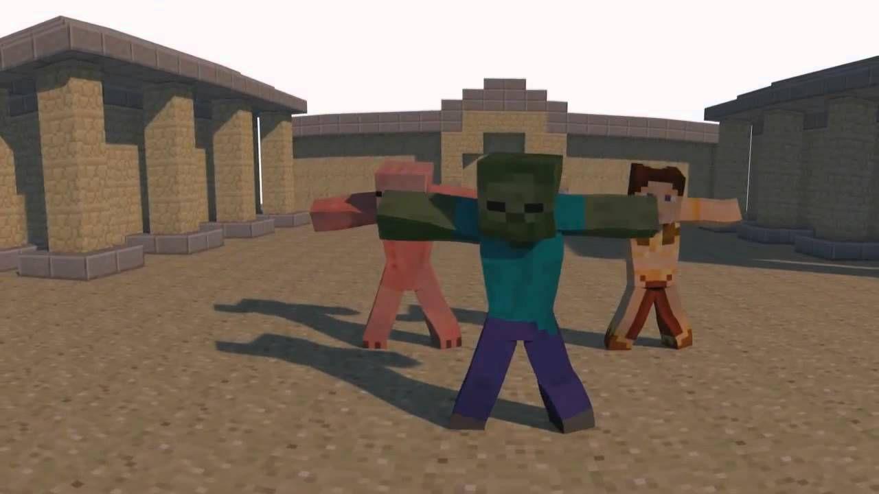 gangnam style minecraft psy parody animation funny pinterest